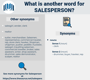 salesperson, synonym salesperson, another word for salesperson, words like salesperson, thesaurus salesperson