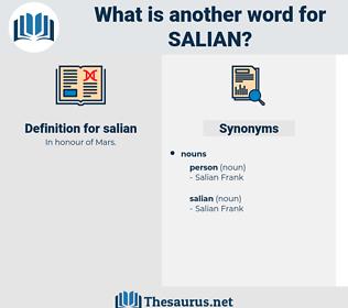 salian, synonym salian, another word for salian, words like salian, thesaurus salian