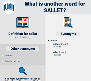 sallet, synonym sallet, another word for sallet, words like sallet, thesaurus sallet