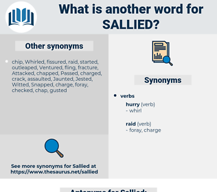 Sallied, synonym Sallied, another word for Sallied, words like Sallied, thesaurus Sallied