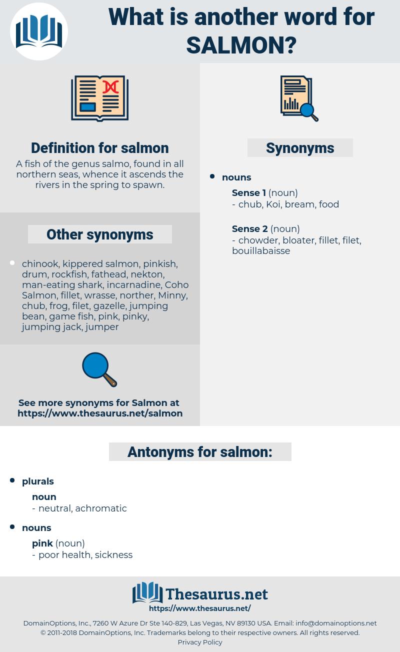 salmon, synonym salmon, another word for salmon, words like salmon, thesaurus salmon