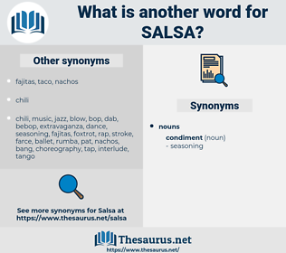 salsa, synonym salsa, another word for salsa, words like salsa, thesaurus salsa