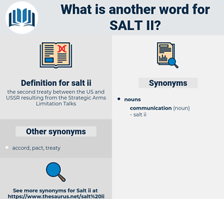 salt ii, synonym salt ii, another word for salt ii, words like salt ii, thesaurus salt ii