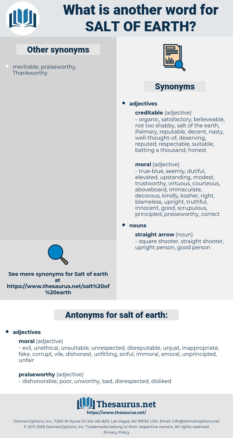 salt of earth, synonym salt of earth, another word for salt of earth, words like salt of earth, thesaurus salt of earth