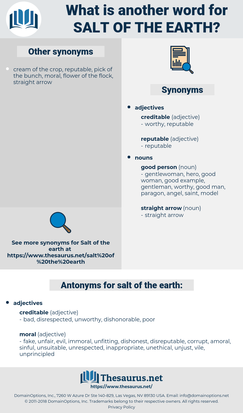 salt of the earth, synonym salt of the earth, another word for salt of the earth, words like salt of the earth, thesaurus salt of the earth