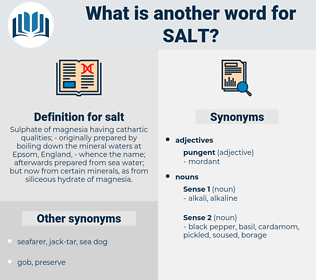 salt, synonym salt, another word for salt, words like salt, thesaurus salt