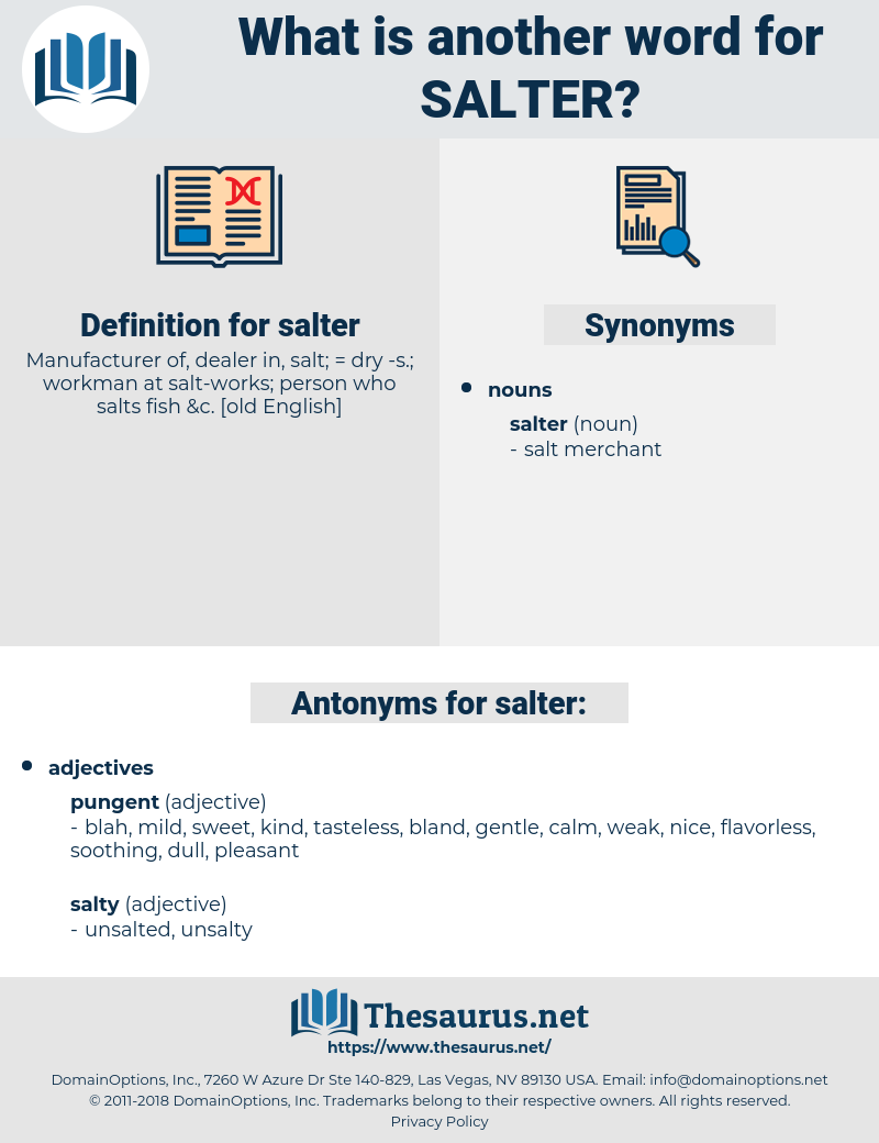 salter, synonym salter, another word for salter, words like salter, thesaurus salter