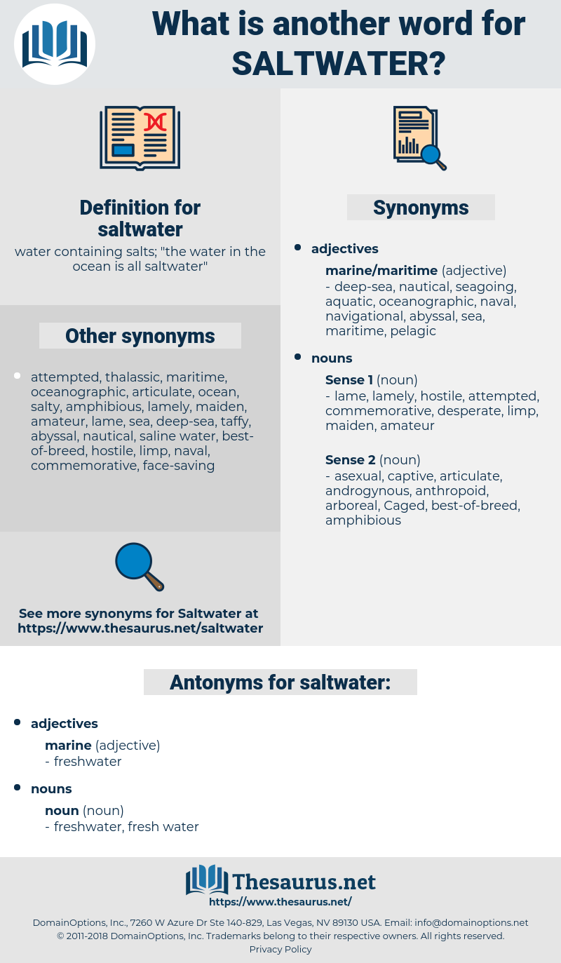 saltwater, synonym saltwater, another word for saltwater, words like saltwater, thesaurus saltwater