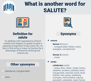 salute, synonym salute, another word for salute, words like salute, thesaurus salute
