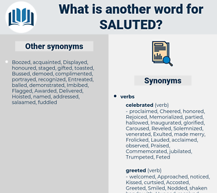 Saluted, synonym Saluted, another word for Saluted, words like Saluted, thesaurus Saluted