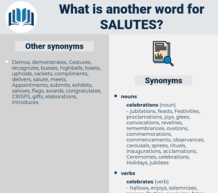 salutes, synonym salutes, another word for salutes, words like salutes, thesaurus salutes