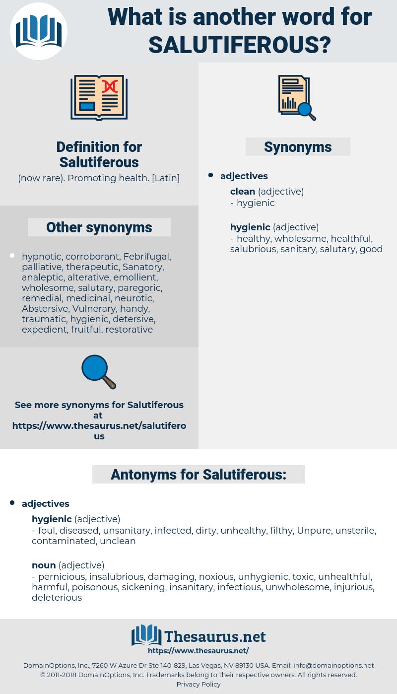 Salutiferous, synonym Salutiferous, another word for Salutiferous, words like Salutiferous, thesaurus Salutiferous