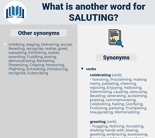 Saluting, synonym Saluting, another word for Saluting, words like Saluting, thesaurus Saluting