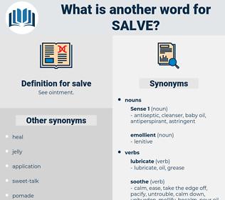 salve, synonym salve, another word for salve, words like salve, thesaurus salve