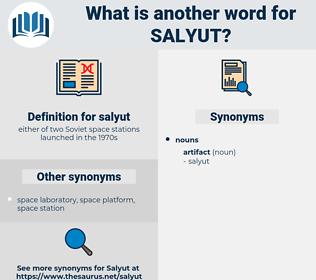 salyut, synonym salyut, another word for salyut, words like salyut, thesaurus salyut