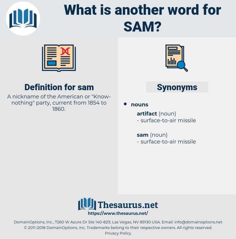 sam, synonym sam, another word for sam, words like sam, thesaurus sam