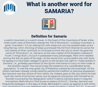 Samaria, synonym Samaria, another word for Samaria, words like Samaria, thesaurus Samaria