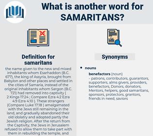 samaritans, synonym samaritans, another word for samaritans, words like samaritans, thesaurus samaritans