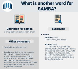 samba, synonym samba, another word for samba, words like samba, thesaurus samba