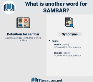 sambar, synonym sambar, another word for sambar, words like sambar, thesaurus sambar