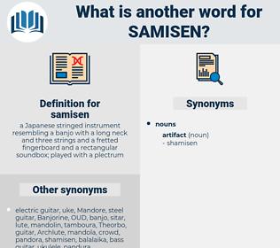 samisen, synonym samisen, another word for samisen, words like samisen, thesaurus samisen