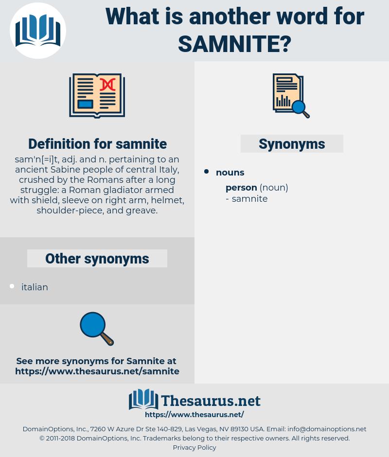 samnite, synonym samnite, another word for samnite, words like samnite, thesaurus samnite