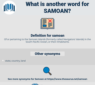 samoan, synonym samoan, another word for samoan, words like samoan, thesaurus samoan