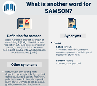 samson, synonym samson, another word for samson, words like samson, thesaurus samson