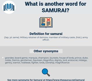samurai, synonym samurai, another word for samurai, words like samurai, thesaurus samurai