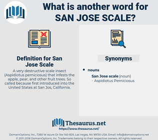 San Jose Scale, synonym San Jose Scale, another word for San Jose Scale, words like San Jose Scale, thesaurus San Jose Scale