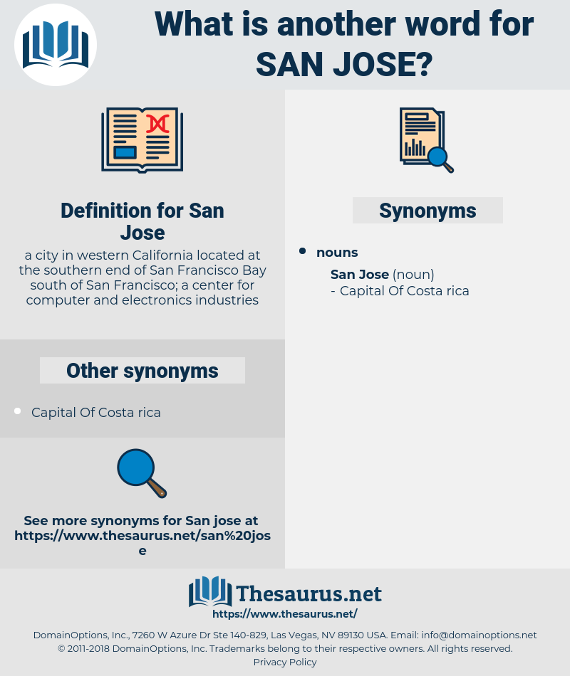 San Jose, synonym San Jose, another word for San Jose, words like San Jose, thesaurus San Jose
