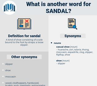 sandal, synonym sandal, another word for sandal, words like sandal, thesaurus sandal