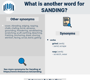 Sanding, synonym Sanding, another word for Sanding, words like Sanding, thesaurus Sanding