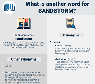 sandstorm, synonym sandstorm, another word for sandstorm, words like sandstorm, thesaurus sandstorm