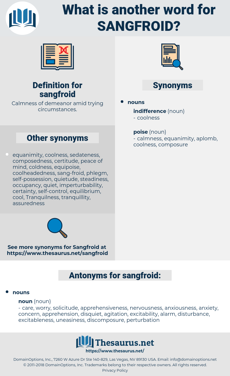sangfroid, synonym sangfroid, another word for sangfroid, words like sangfroid, thesaurus sangfroid