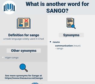 sango, synonym sango, another word for sango, words like sango, thesaurus sango