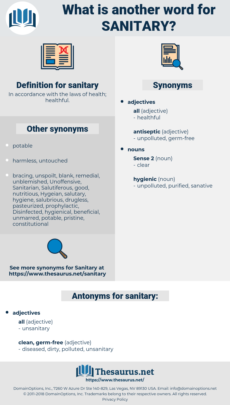 sanitary, synonym sanitary, another word for sanitary, words like sanitary, thesaurus sanitary