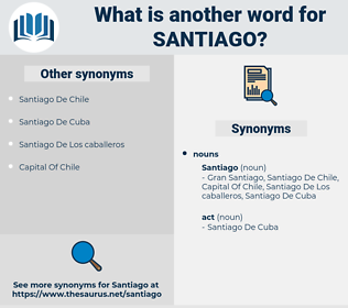 santiago, synonym santiago, another word for santiago, words like santiago, thesaurus santiago