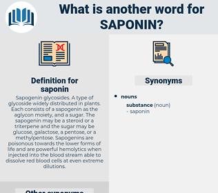 saponin, synonym saponin, another word for saponin, words like saponin, thesaurus saponin