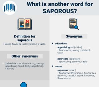 saporous, synonym saporous, another word for saporous, words like saporous, thesaurus saporous