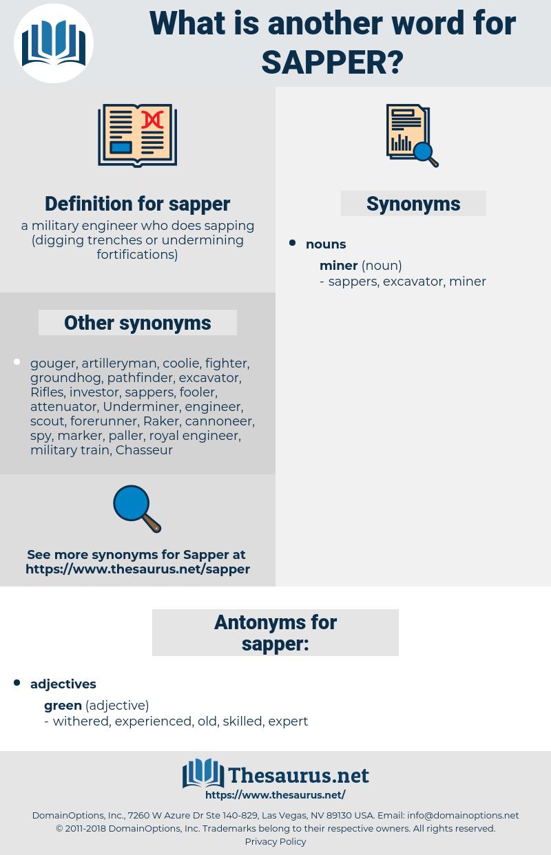 sapper, synonym sapper, another word for sapper, words like sapper, thesaurus sapper