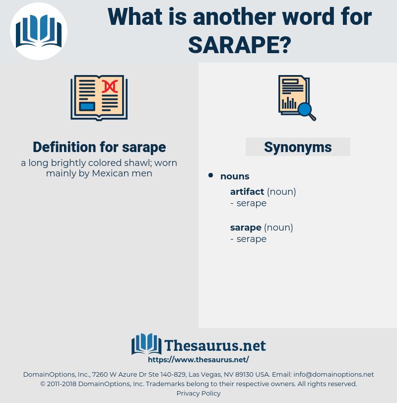 sarape, synonym sarape, another word for sarape, words like sarape, thesaurus sarape