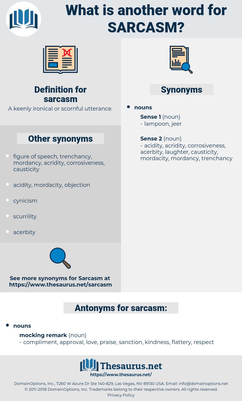 sarcasm, synonym sarcasm, another word for sarcasm, words like sarcasm, thesaurus sarcasm