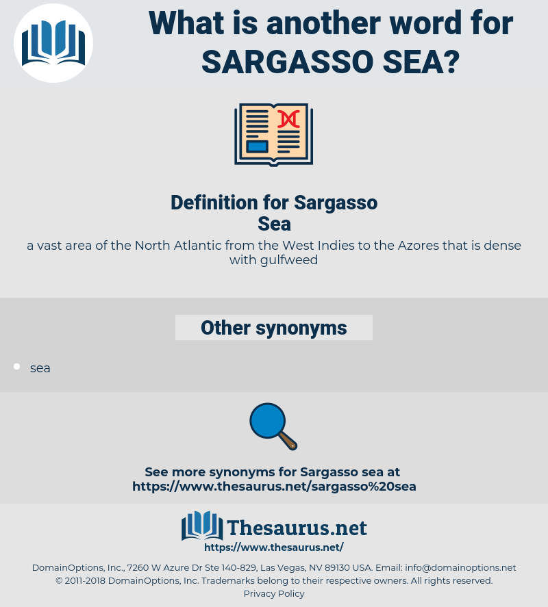 Sargasso Sea, synonym Sargasso Sea, another word for Sargasso Sea, words like Sargasso Sea, thesaurus Sargasso Sea