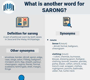 sarong, synonym sarong, another word for sarong, words like sarong, thesaurus sarong