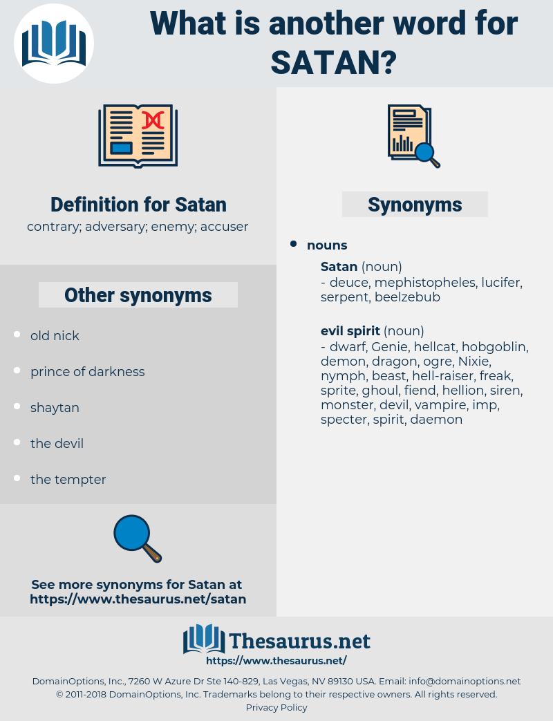 Satan, synonym Satan, another word for Satan, words like Satan, thesaurus Satan