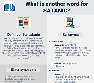 satanic, synonym satanic, another word for satanic, words like satanic, thesaurus satanic