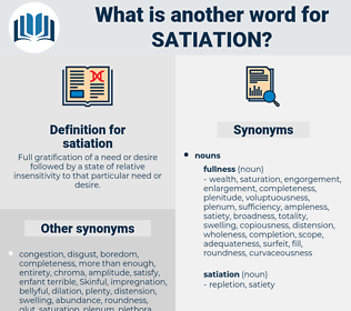 satiation, synonym satiation, another word for satiation, words like satiation, thesaurus satiation