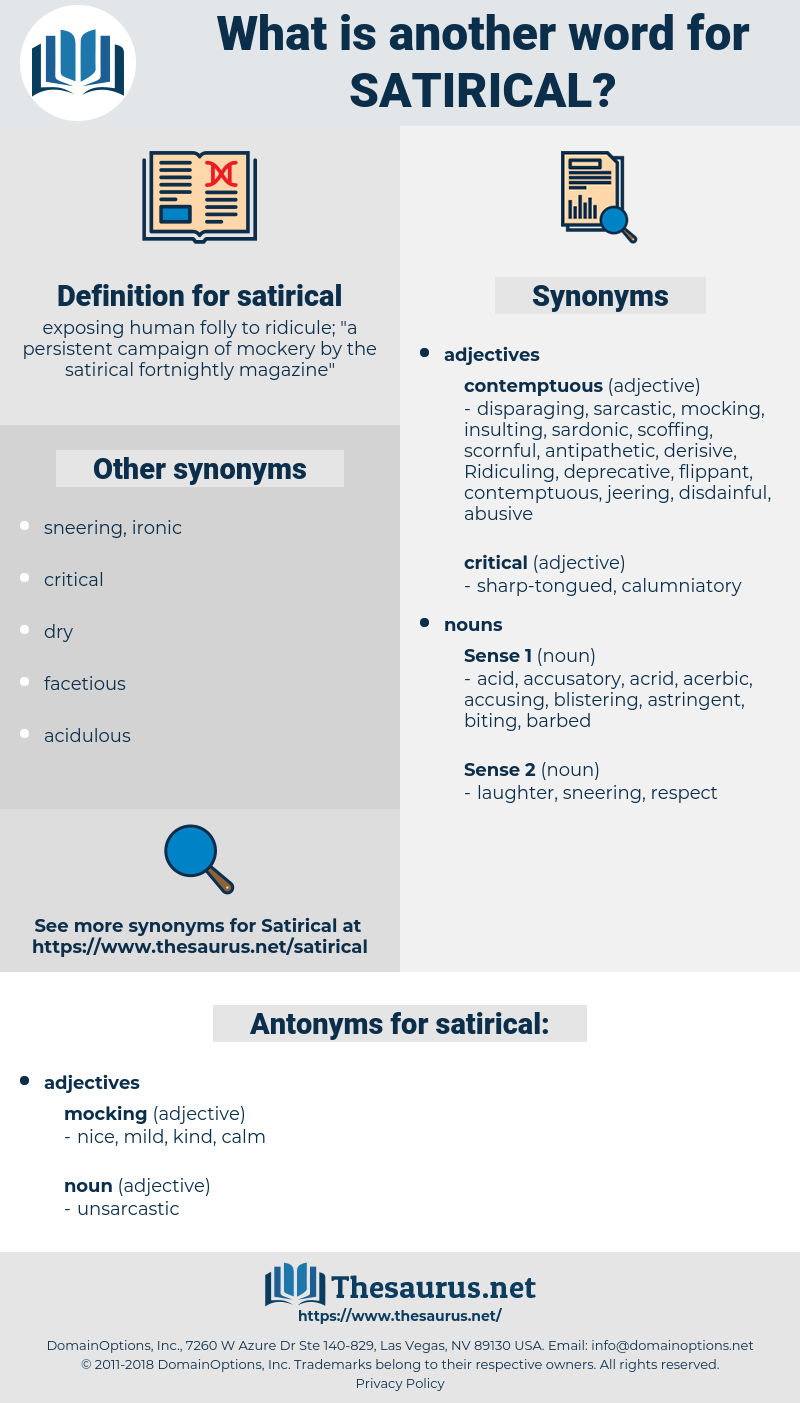 Synonyms For Satirical Antonyms For Satirical Thesaurus Net
