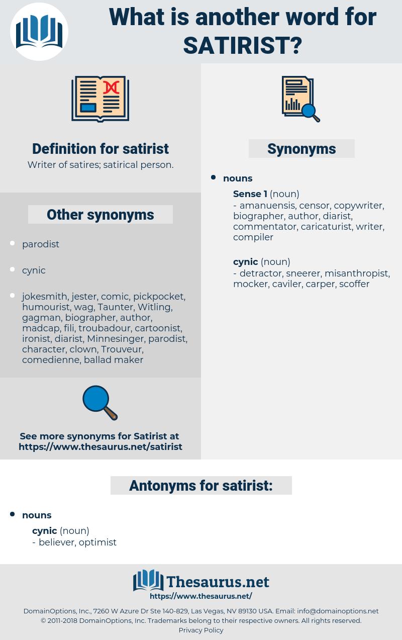 satirist, synonym satirist, another word for satirist, words like satirist, thesaurus satirist
